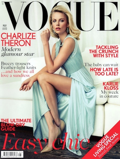 Charlize Theron British Vogue Cover
