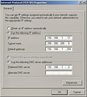 assign static ip address