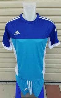 Jersey setelan futsal warna biru Adidas 2015