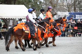子ども騎馬隊によるデモンストレーション