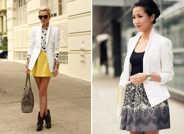 Black and white jacket dress