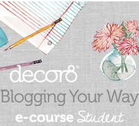 I'm taking the decor8 blog class