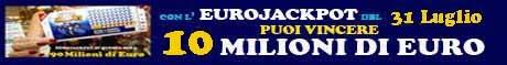 Eurojackpot estrazione del 31 Luglio 2015