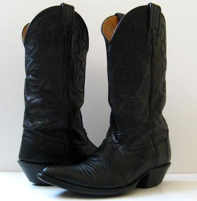 Good closet nocona black lizard leather cowboy cowgirl boots womens