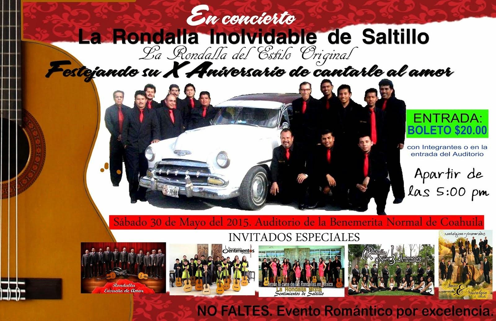 X Aniversario Rondalla Inolvidable de Saltillo
