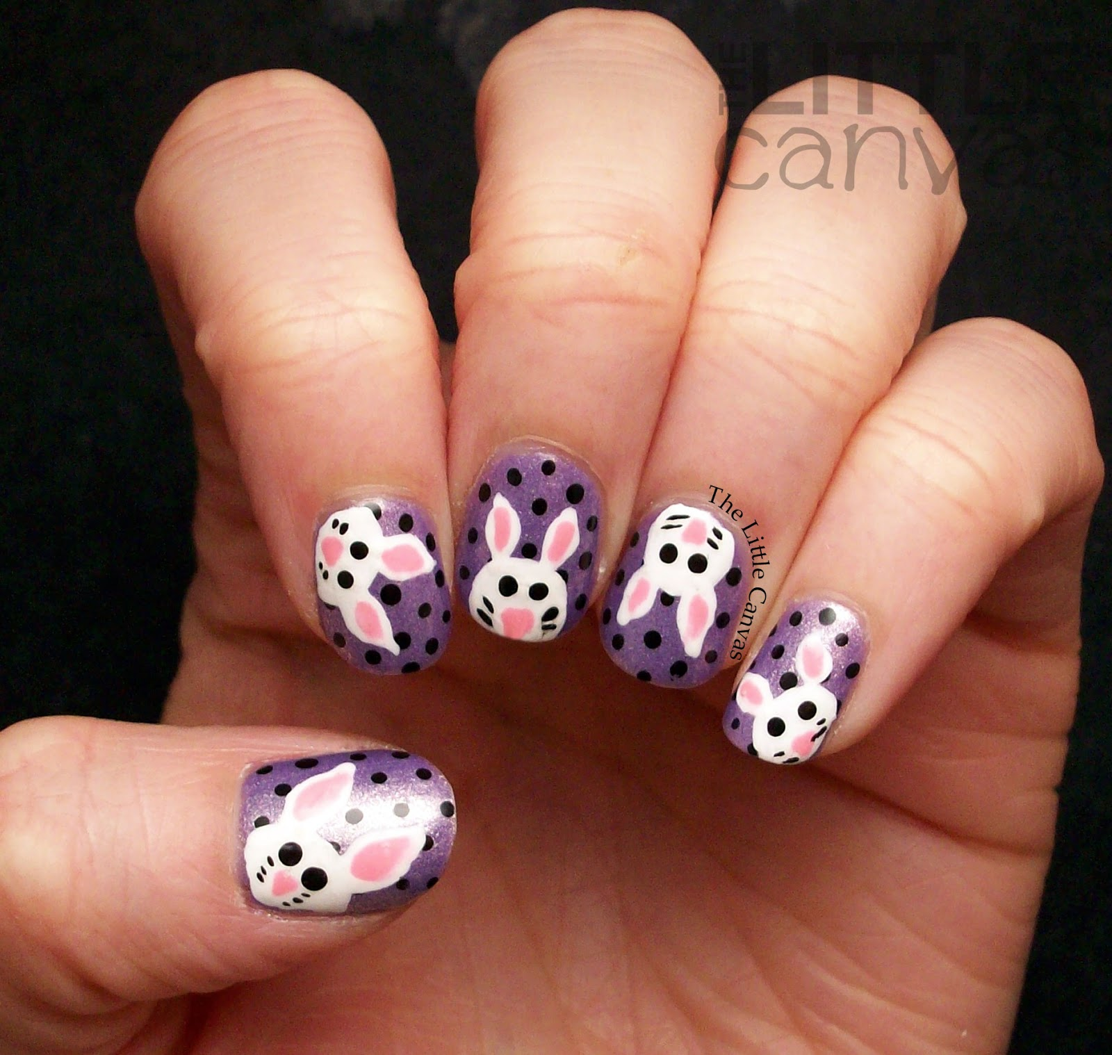 Easter Bunny Nail Art! - The Little Canvas