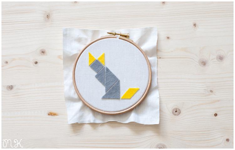 diy bastidor gato tangram