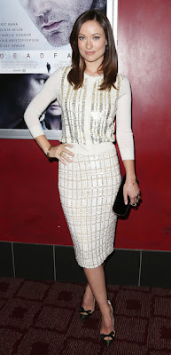 Olivia Wilde Deadfall Premiere White Outfit