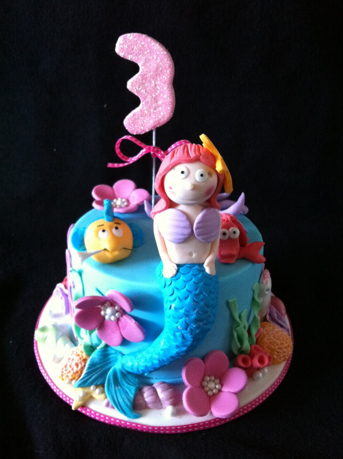 The Cupcake Stand Little Mermaid Cake