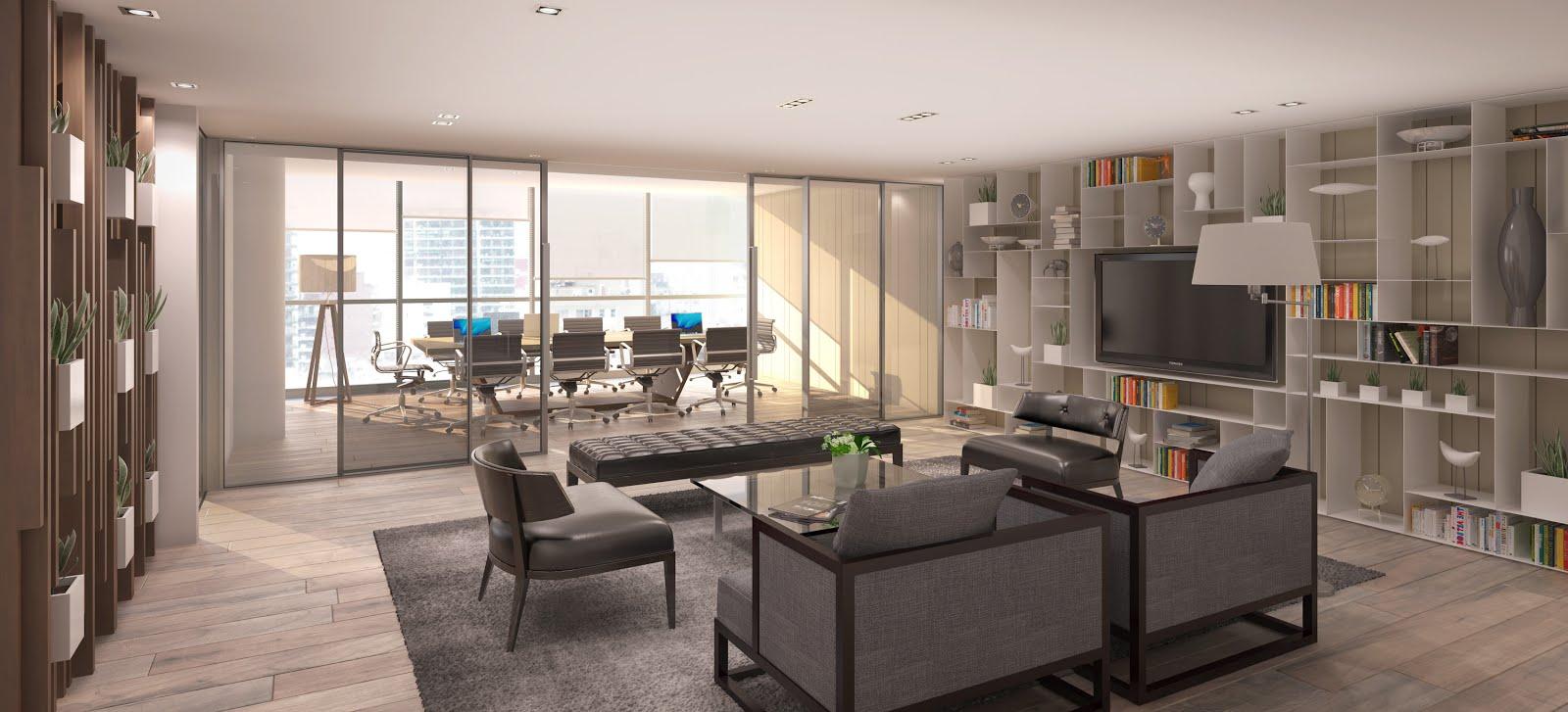 Renders arquitectura renders interiores for Interior oficina