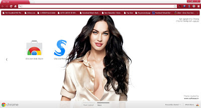 Beautiful Megan Fox Google Chrome Theme