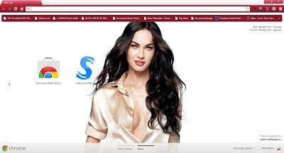 Beautiful Megan Fox Google Chrome Theme