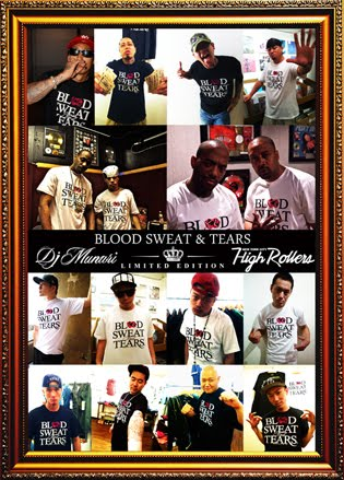 "BLOOD SWEAT & TEARS T-SHIRT ""NOW ON SALE"""