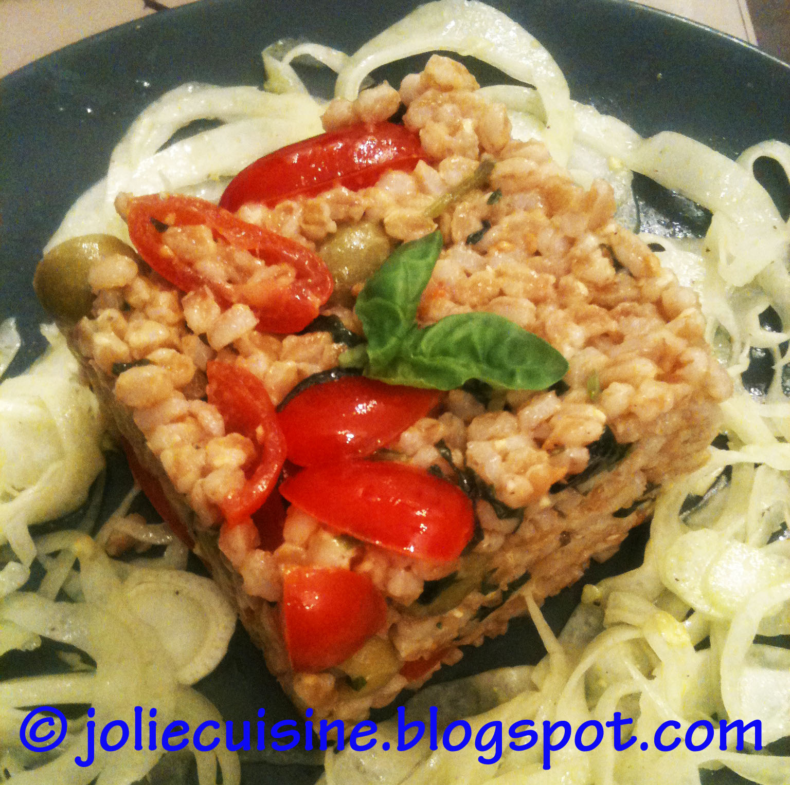 Jolie cuisine insalata di farro e tartare di finocchi for Jolie cuisine