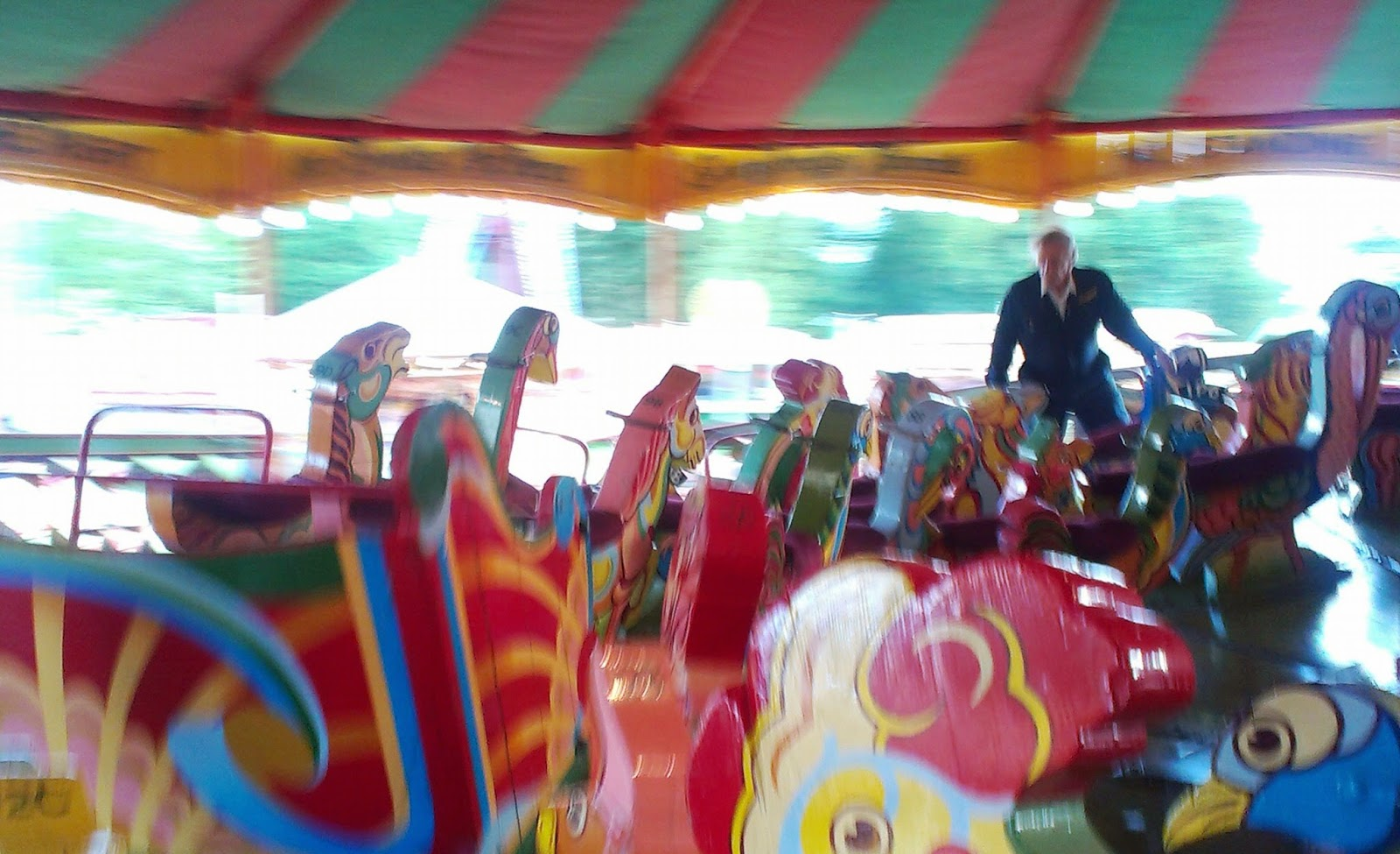 Riding the ark at Carters Steam Fair