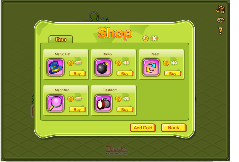 Coins-Purchase items from shop to gain additional advantage in Plink