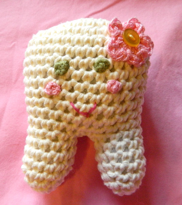 crochet d lane: Custom Toothie The Tooth Fairy Pillow