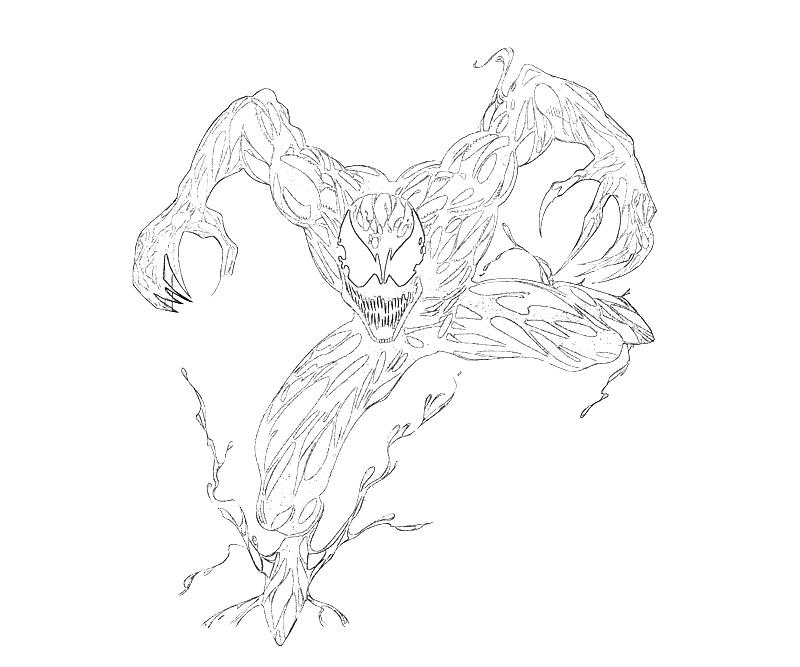 spiderman carnage coloring pages - photo#4