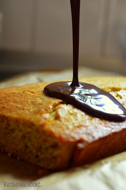 Kürbis Kuchen Schokolade Haselnüsse