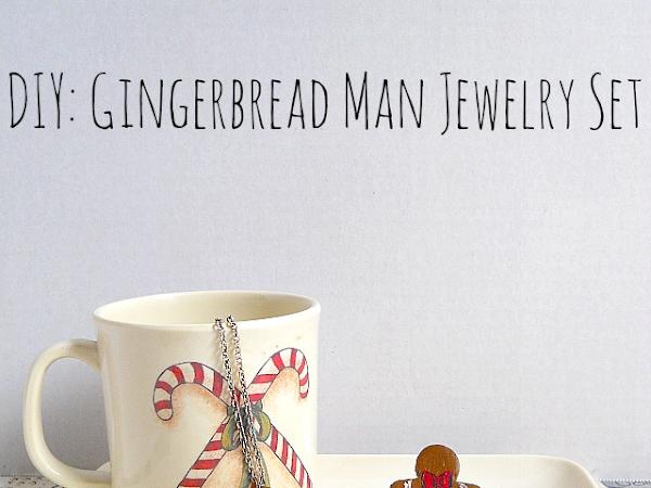 DIY: Gingerbread Man Jewerly Set