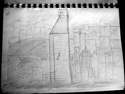 Eureka skydeck 88 sketch, Melbourne