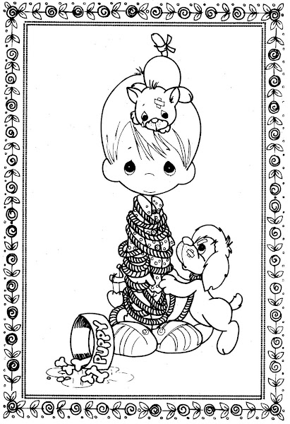 Precious Moments Alphabet Letters Coloring Pages