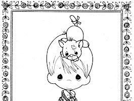 Precious Moments Boy Angel Coloring Pages