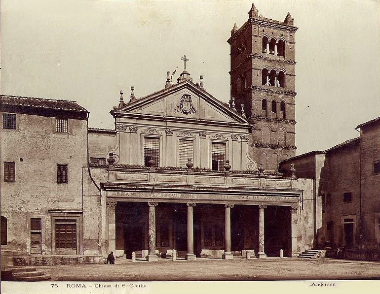 Imagen de archivo de la Basílica romana de Santa Cecilia