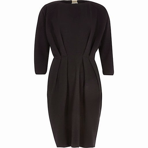 river island black belted dress, black dress with waist detail,