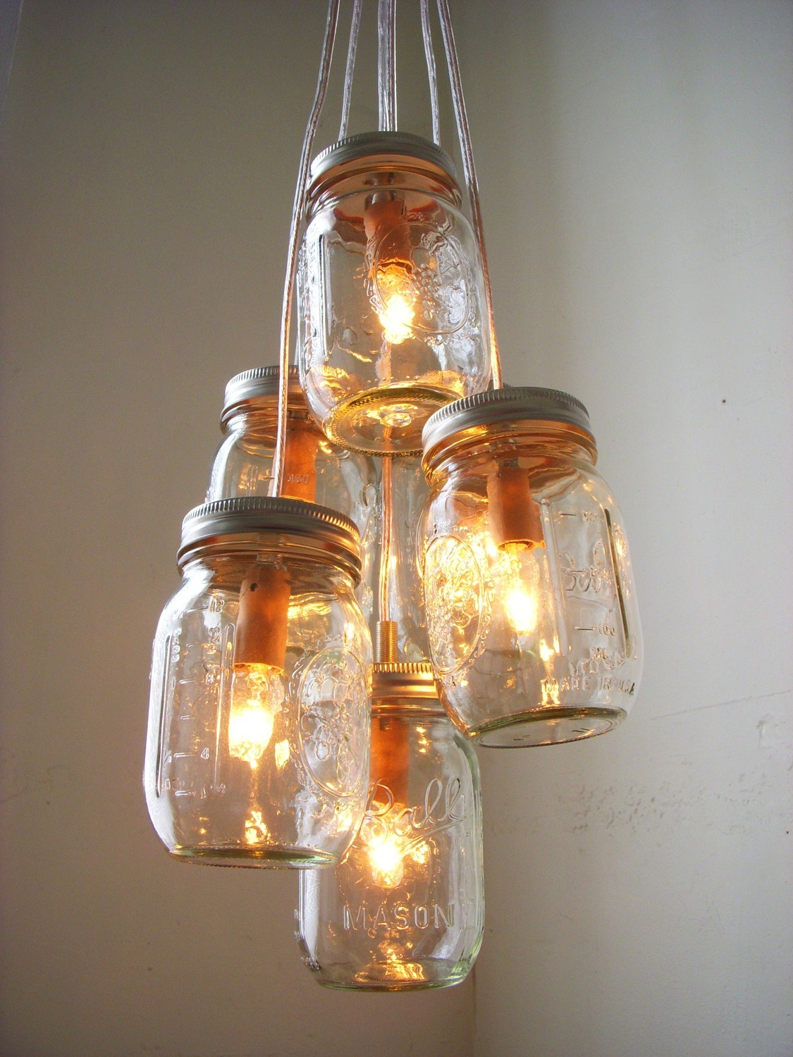 The gael gallery design weddings decor fashion through the mason jar chandelier by bootsngus via etsy arubaitofo Gallery