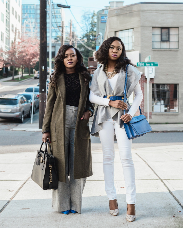 Gray Tone: Longline Coat + Lapel Vest Looks