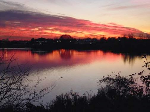 Fairlop Waters at dusk