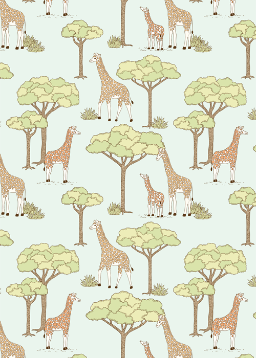 Emma Margaret Illustration Giraffe Pattern 2015