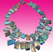 Vibrant Deep Blue Jasper Necklace
