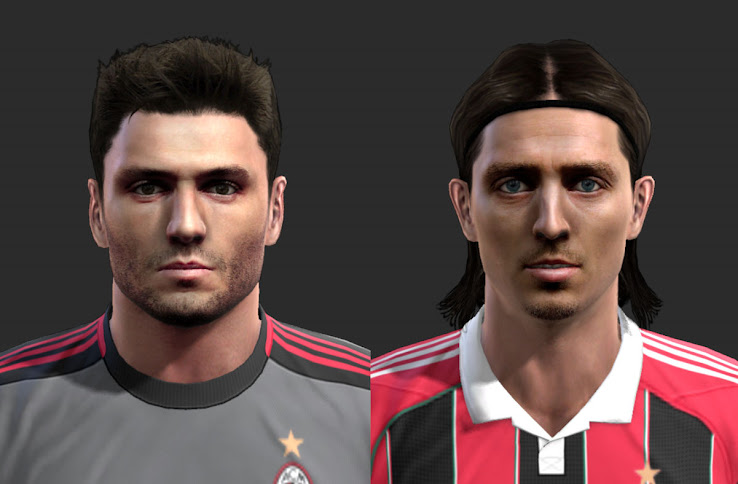 PES 2013 Amelia & Montolivo Faces by alex7