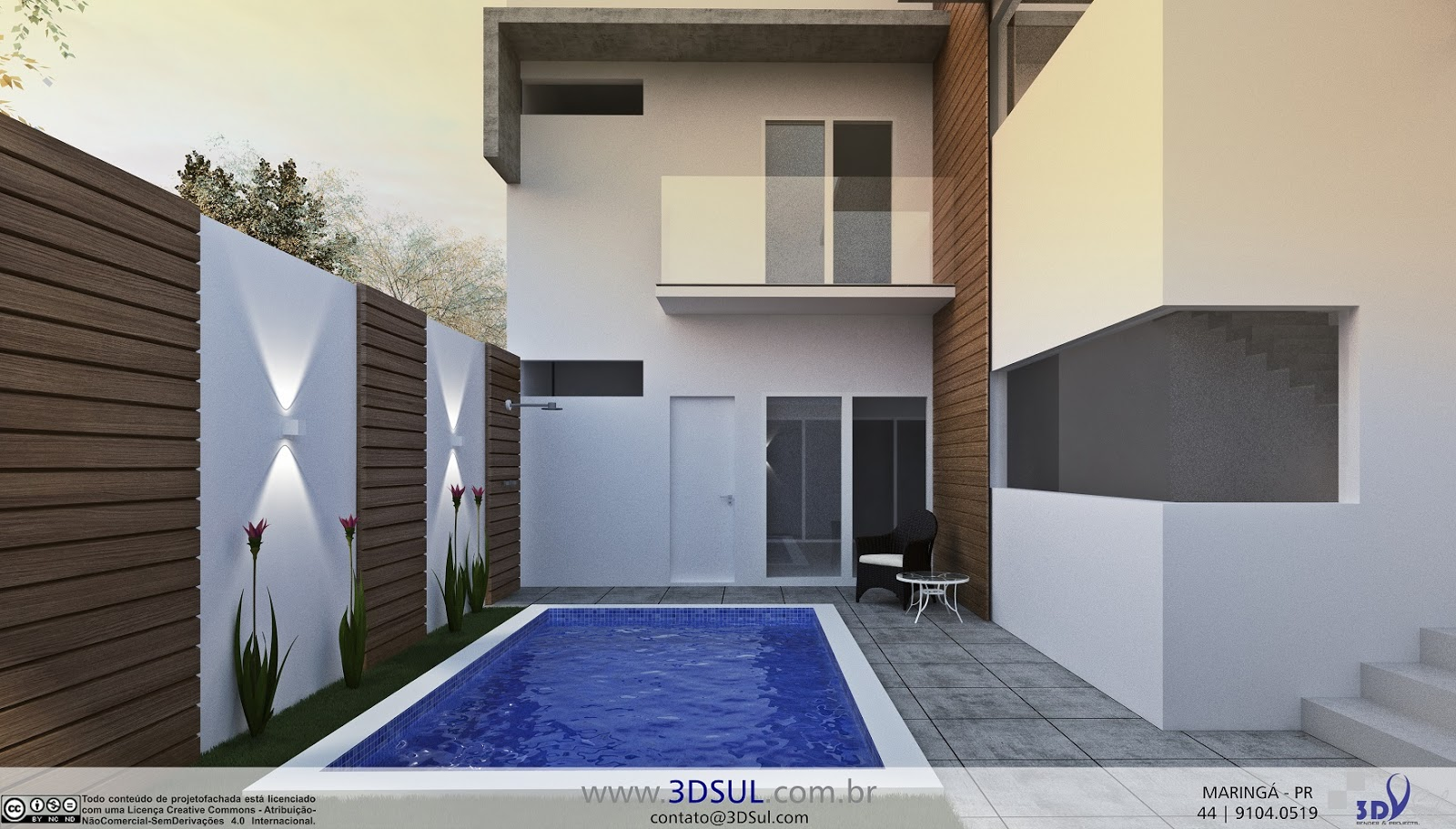3dsul maquete eletr nica 3d projeto arquitetonico 3d for Casas 3d