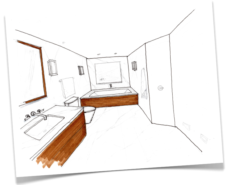 Early Stage Conceptual Concept For The Master Ensuite