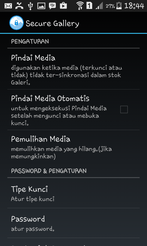 Cara Mengganti Tipe Kunci Password Foto di Android