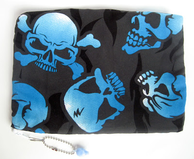 Skull-themed iPad sleeve