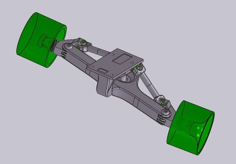 Wackyboards Trucks With 4 Wheel Independent Steering