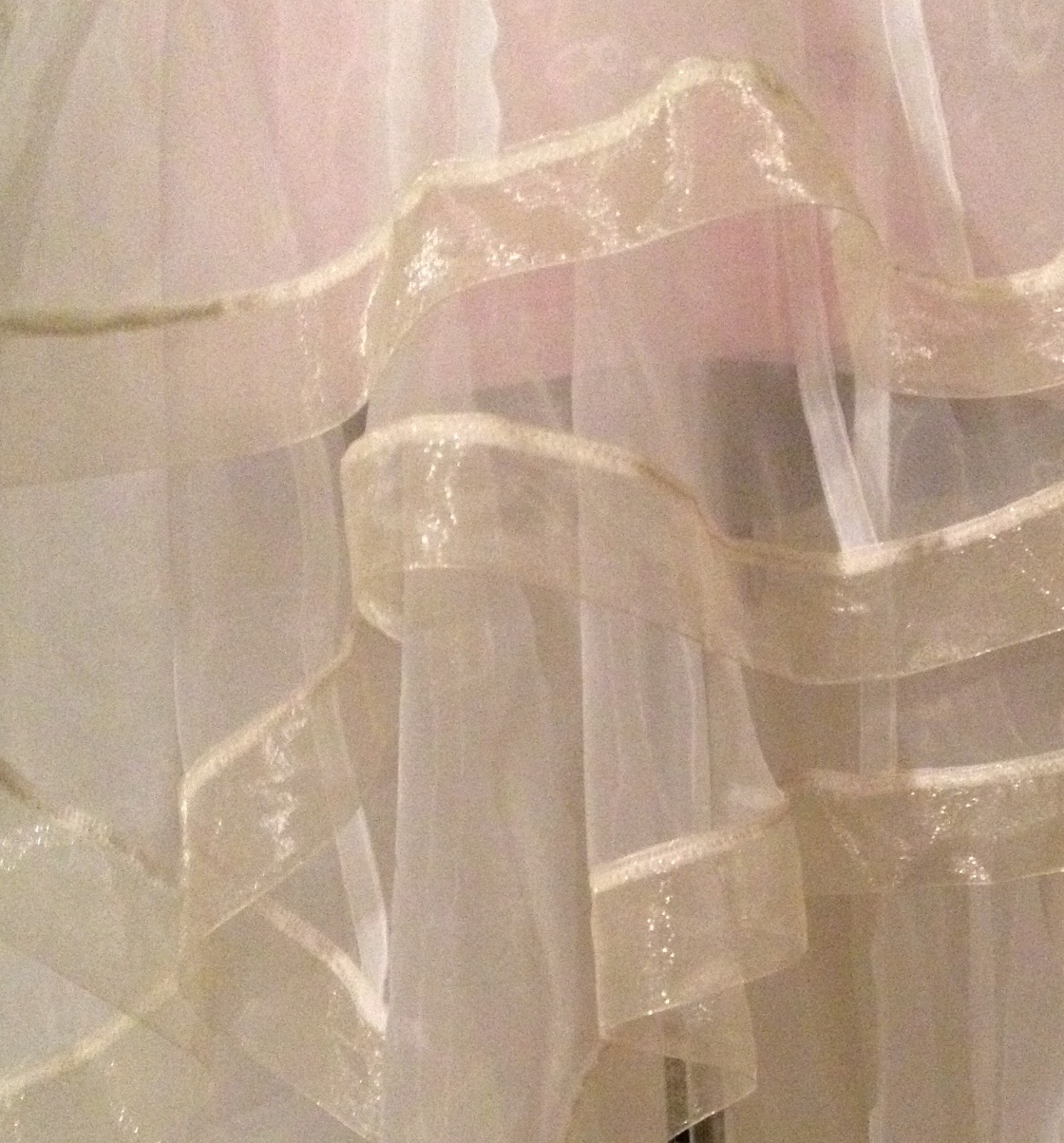 organza wedding dress layers