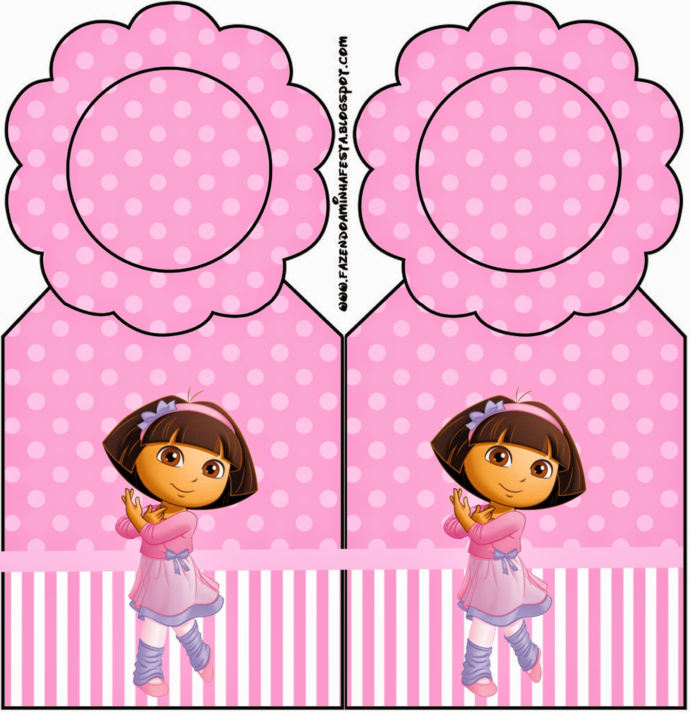 Dora Dancing Ballet Free Party Printable – Printable Dora Birthday Invitations