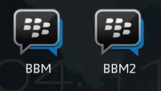 cara instal dua bbm dalam satu android