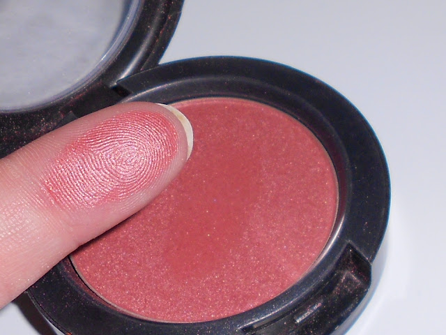 mac plum foolery swatch blusher blog
