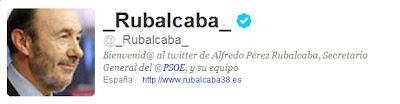 Perfil en Twitter de Alfredo Pérez Rubalcaba