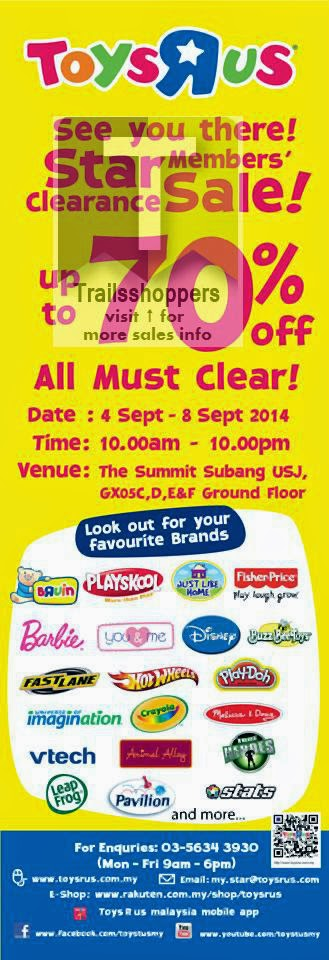 Toys R Us Star Member Clearance Sale offers Subang Jaya Malaysia