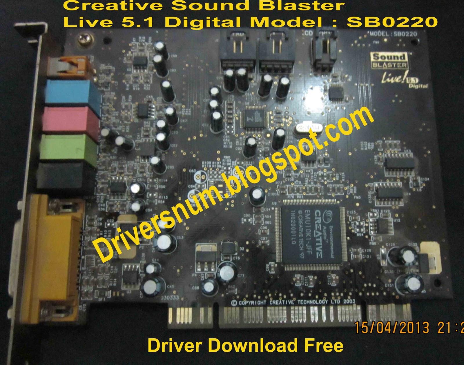 Download driver creative sound blaster live 5 1 windows 7