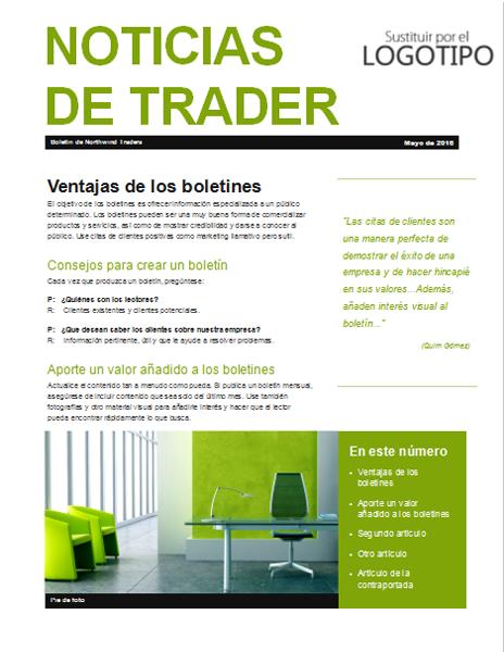 free online gratis descargar boletín de negocio verde plantillas