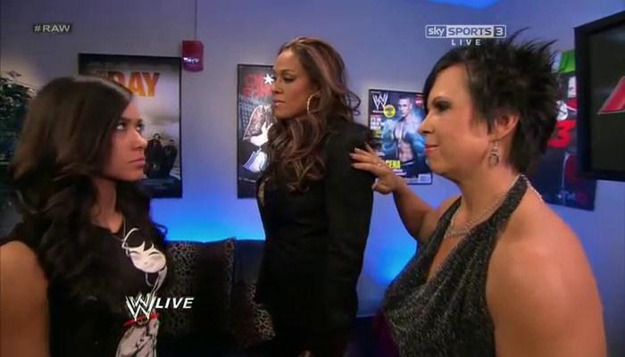 AJ Tamina and Vickie Guerrero
