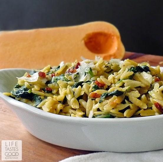 Butternut Squash Orzo Pasta #SundaySupper | Life Tastes Good